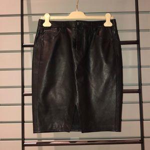 Rag and Bone leather skirt